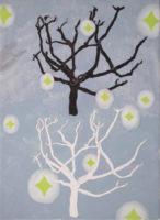 木と木と光 trees and light | 2014 | 332×241mm | pencil, crayon, watercolor on paper