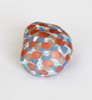 大沢の石5 a stone picked up in Osawa | 2021 | 70×80×45mm | washi foundation acrylic