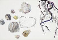 石ころ small stones | 2016 | 190×272mm | color pencil, ballpoint pen on paper