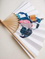 扇子‒椿‒ camellia | 2020 | 270×425mm | sumi acrylic pencil on sensu