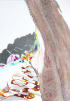 木陰から in the shade of a tree | 2006 | 297×210mm | watercolor, color pencil, oil pastel on paper