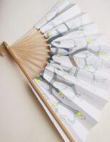 扇子‒ヤドリギ‒ mistletoe | 2020 | 270×425mm | sumi acrylic pencil on sensu