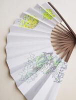 扇子‒ミツマタ‒ mitumata | 2020 | 195×325mm | sumi acrylic pencil on sensu